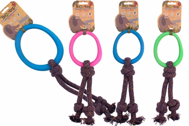 Gummiring med rep i tre färger och två storlekar