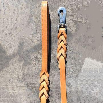 Naturbrunt läderkoppel svensktillverkat i vegetabilgarvat skinn